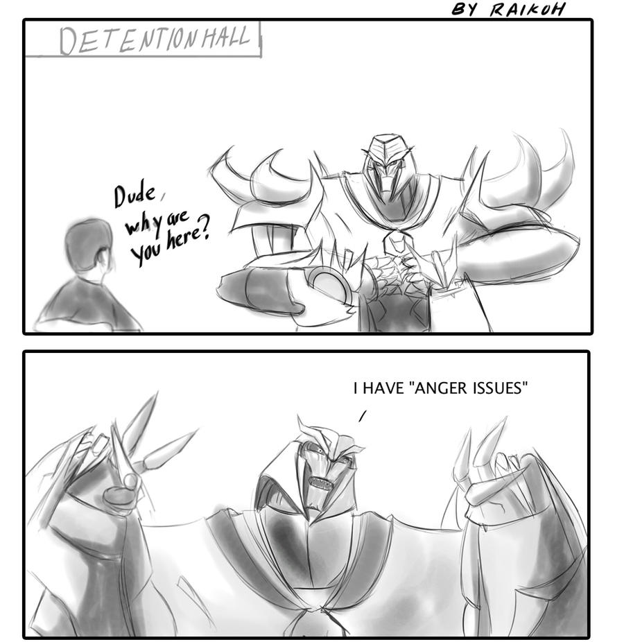 Megatron has 'anger' problems by Raikoh-illust