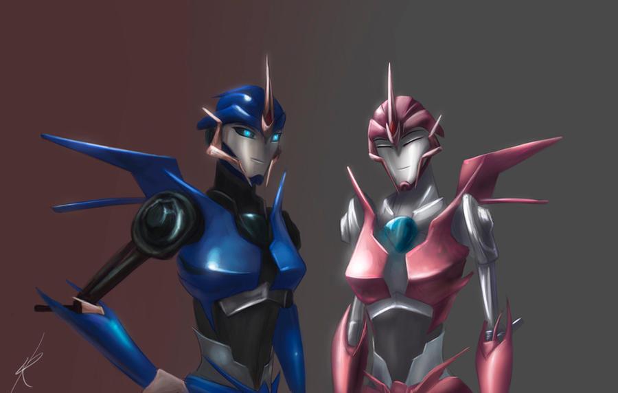 Transformers Prime Arcee Sexy Arcee x 2 by raikoh-illust