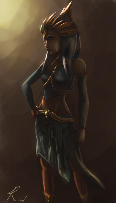 Ahsoka's new slave outfit by Raikoh-illust