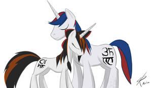 Pony Optimus and Coatzin