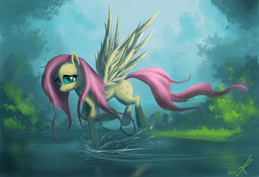 Fluttershy by Raikoh-illust