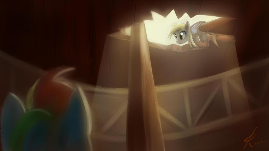 Derpy finds Dash by Raikoh-illust