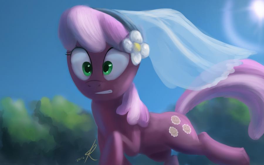 Cheerilee, runaway bride by Raikoh-illust
