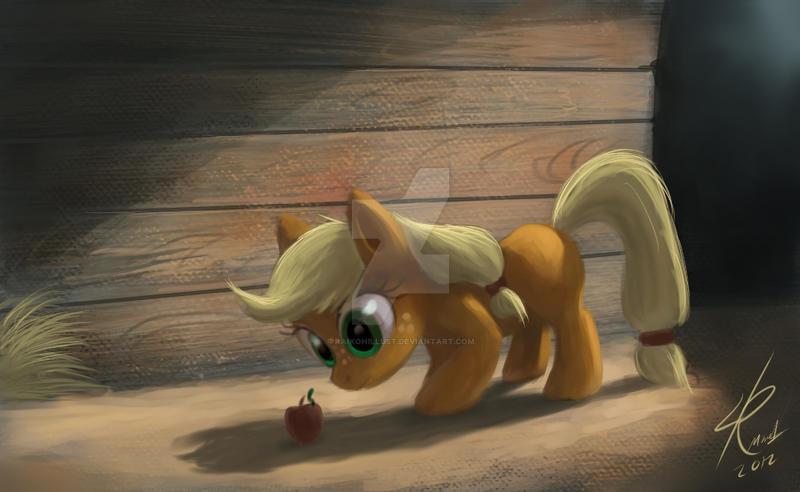 Filly Applejack by Raikoh-illust