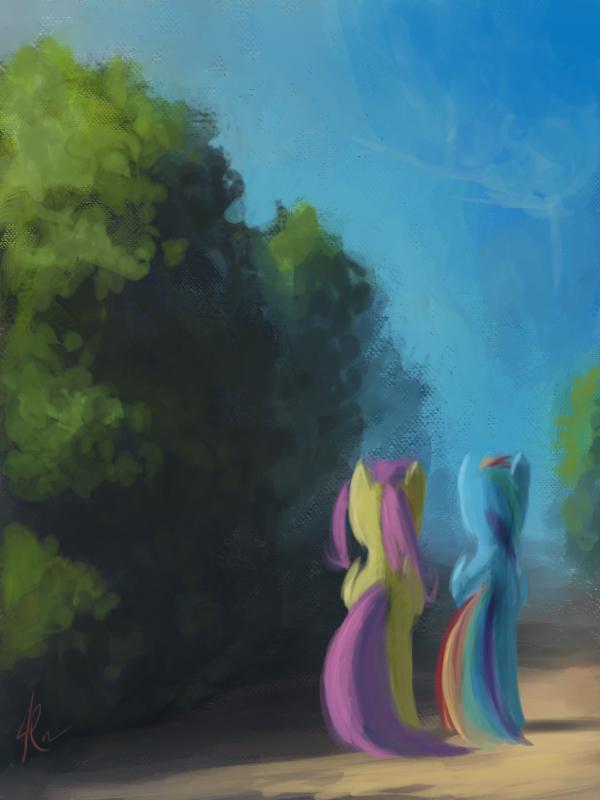 Somewhere at the garden Maze by Raikoh-illust