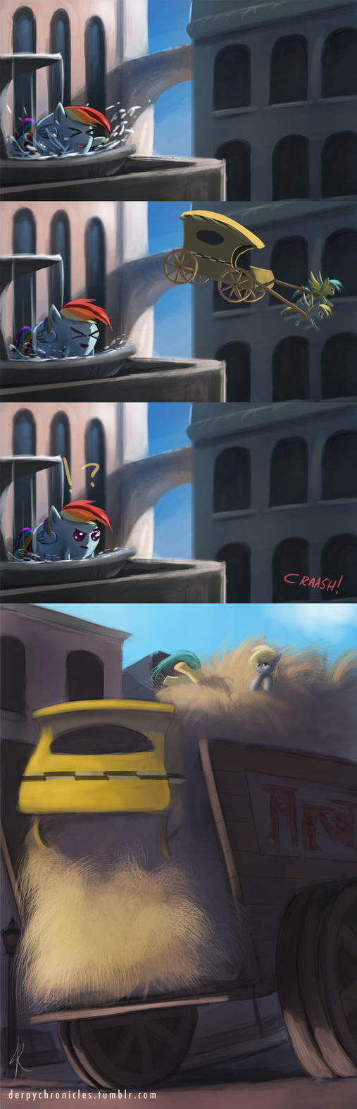 Derpy Chronicles - crash landing by Raikoh-illust