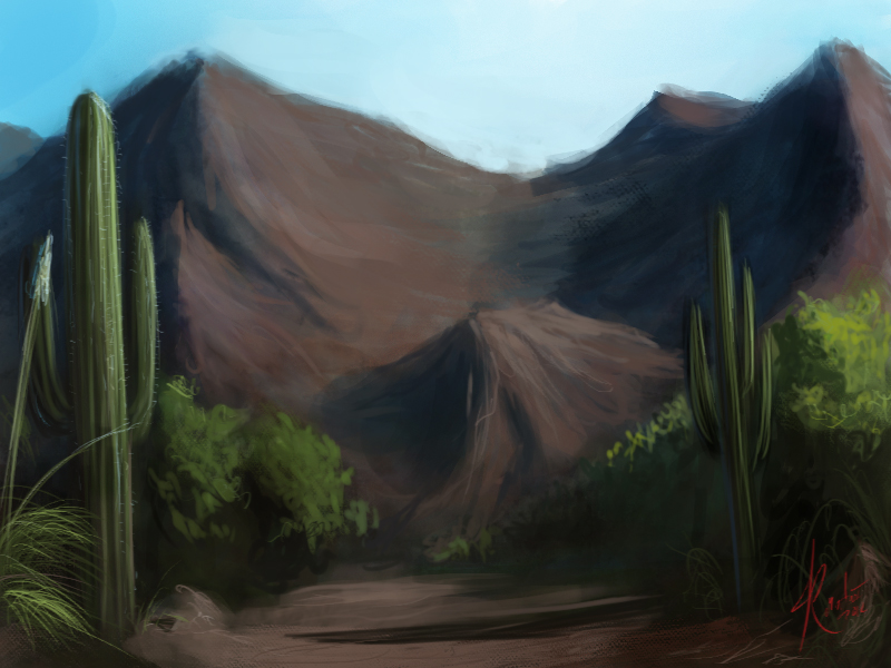 Desert speed paint by Raikoh-illust