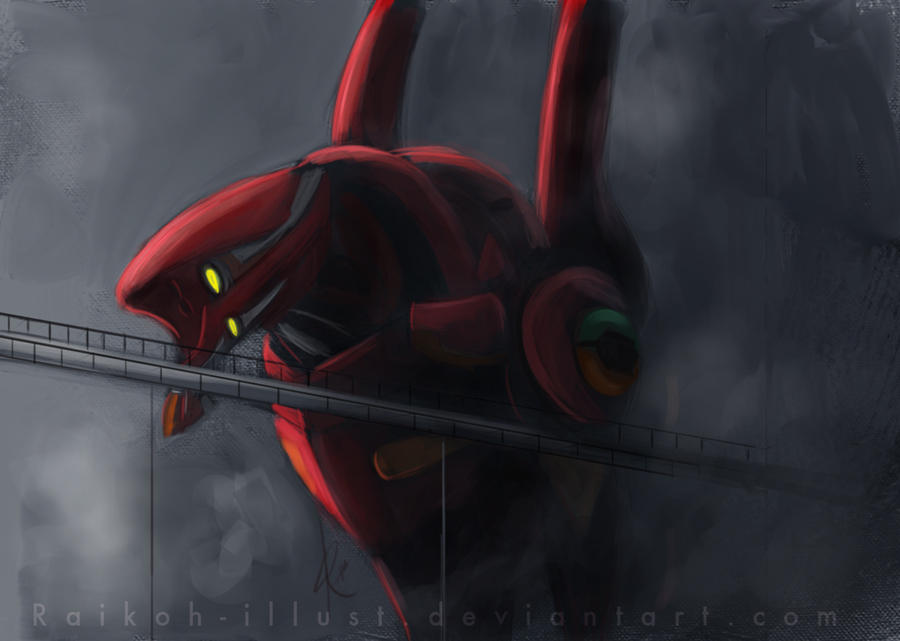 Evangelion Unit-02 by Raikoh-illust