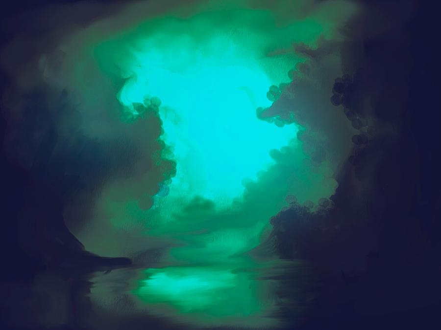 dark green lake by Raikoh-illust