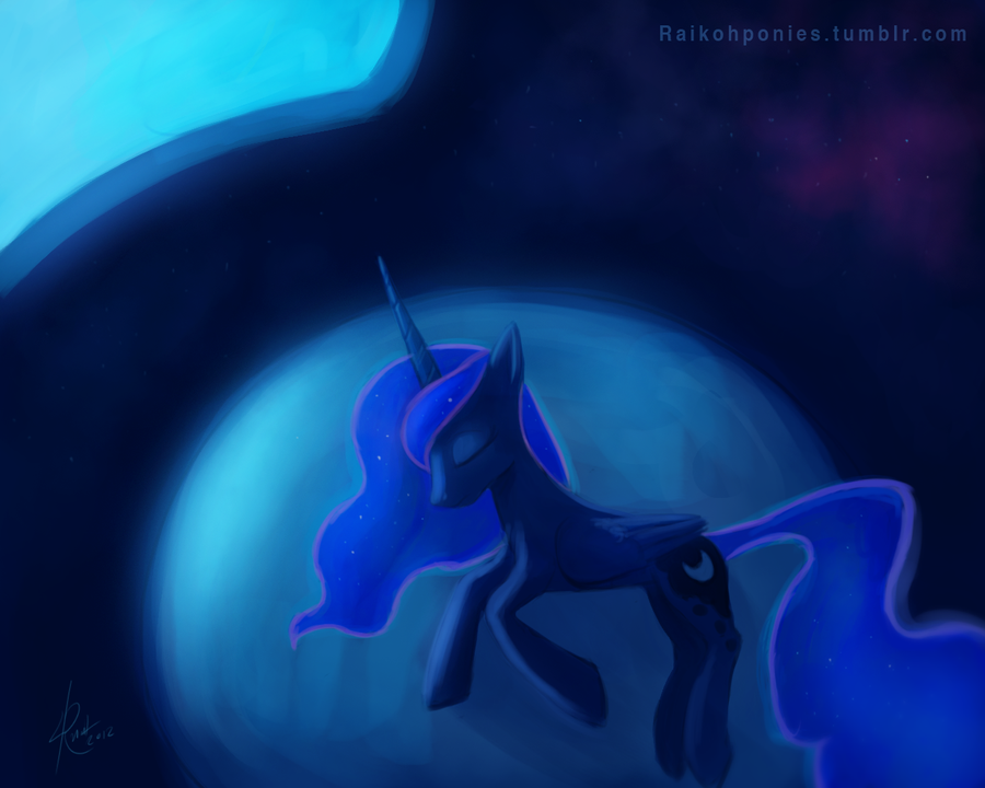 Luna Sleeping by Raikoh-illust