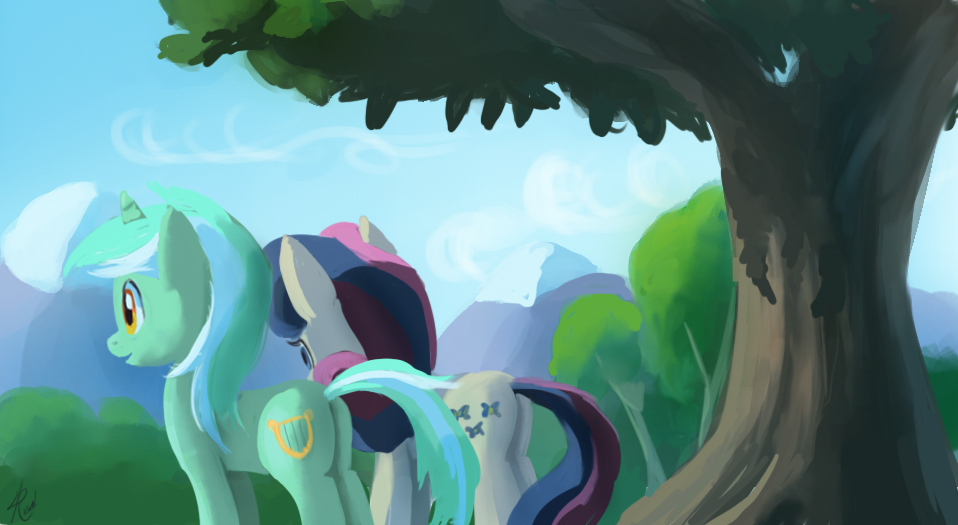 Lyra and Bon Bon by Raikoh-illust