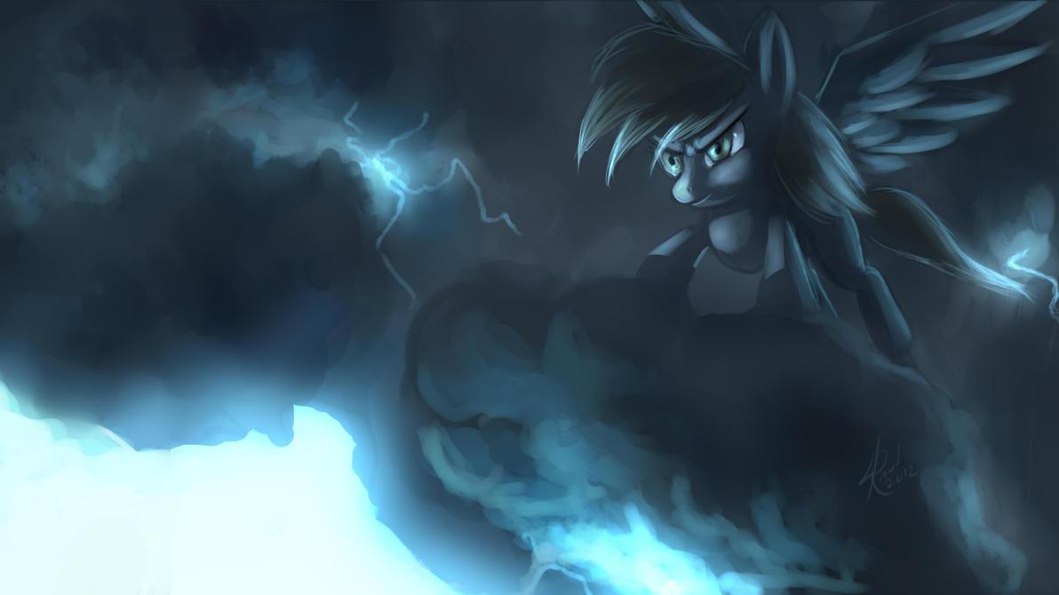 Thunder Derpy Wallpaper by Raikoh-illust