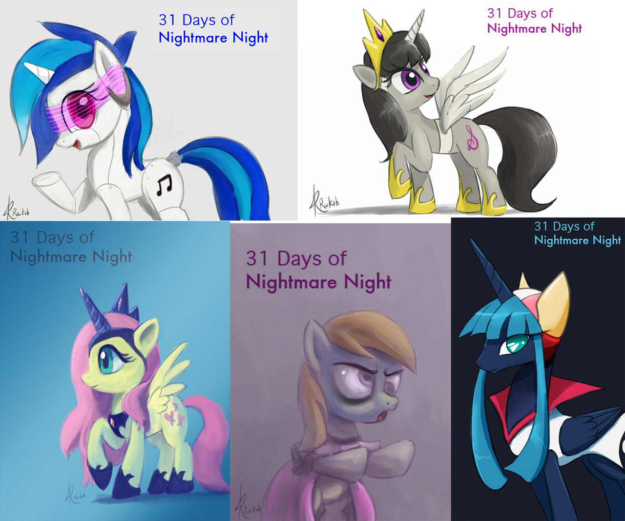 31 days of Nightmare Night set #2 by Raikoh-illust