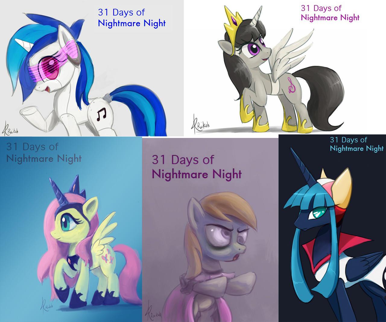 31 days of Nightmare Night set #2 by Raikoh-illust