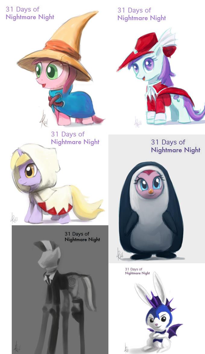 31 days of Nightmare Night set #3 by Raikoh-illust
