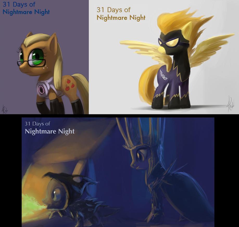 31 Days of Nightmare Night set 4 by Raikoh-illust