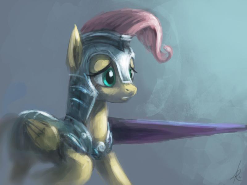 Knight Fluttershy by Raikoh-illust