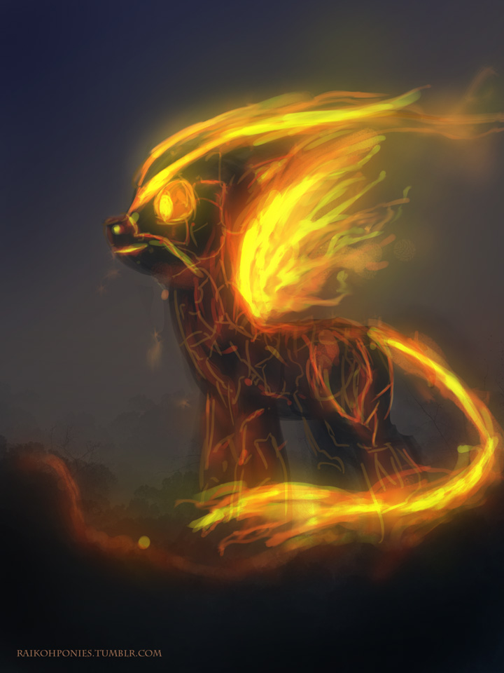 Fire Pony Elemental by Raikoh-illust