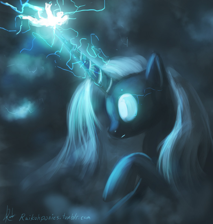 Lightning Elemental Pony by Raikoh-illust