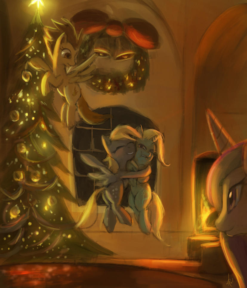 Derpy's full of Holiday spirit by Raikoh-illust