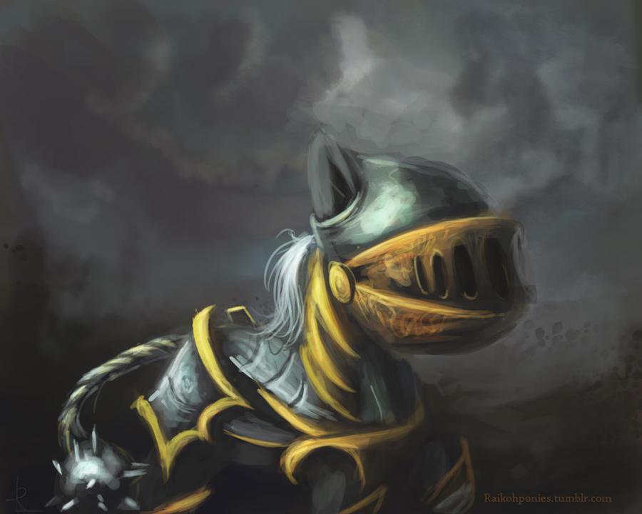 Knight pony by Raikoh-illust