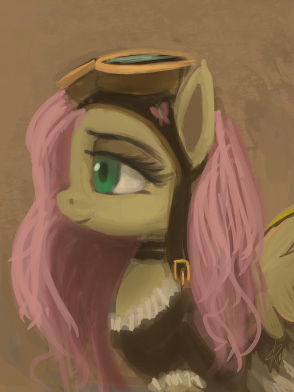 Steampunk Fluttershy by Raikoh-illust