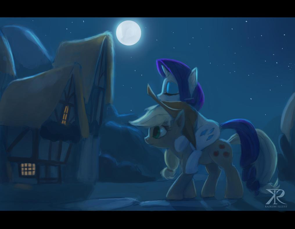 Late night at Ponyville by Raikoh-illust