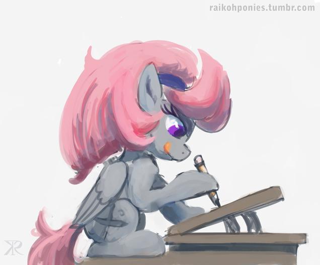 Doodlin' pony by Raikoh-illust
