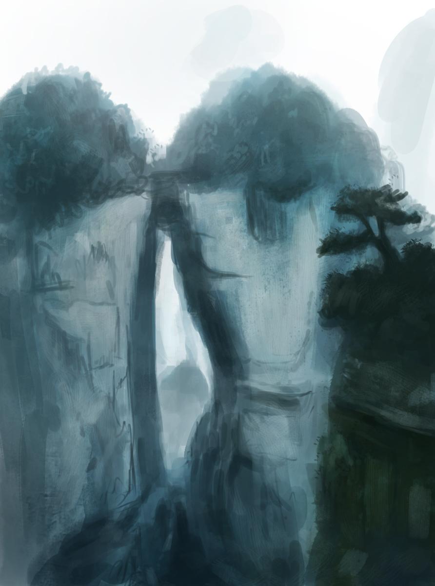 speed paint scenery by Raikoh-illust