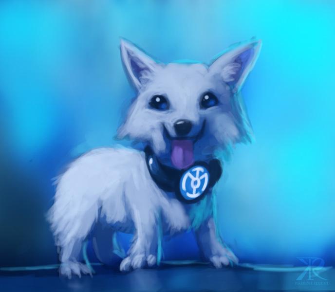 Corgi Blue Lantern by Raikoh-illust