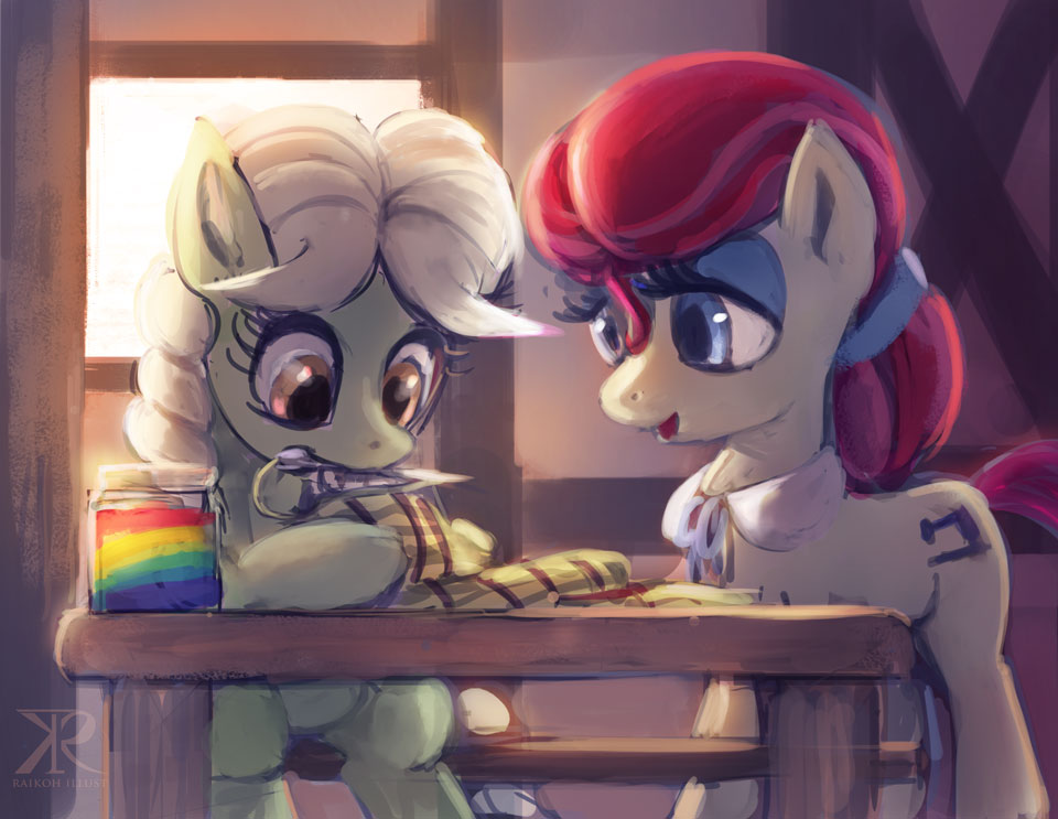 Young Granny Smith and her mom by Raikoh-illust