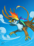 Rainbow Feather commission