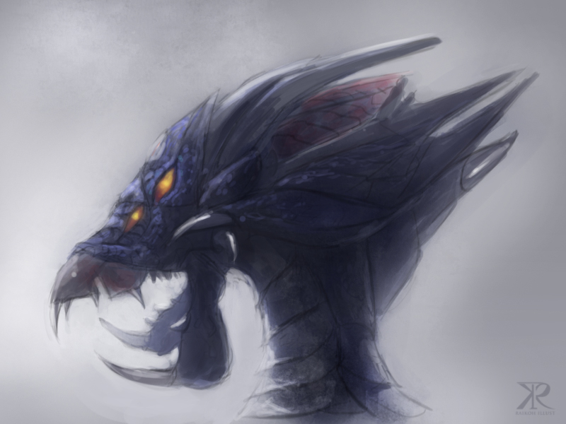 Dragon head by Raikoh-illust