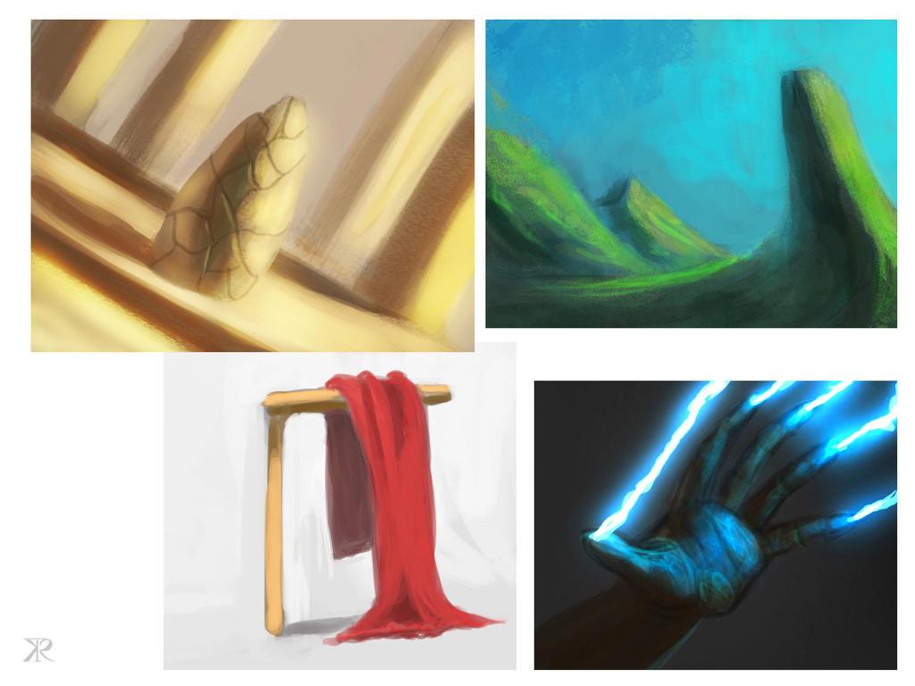 misc. speed paints by Raikoh-illust