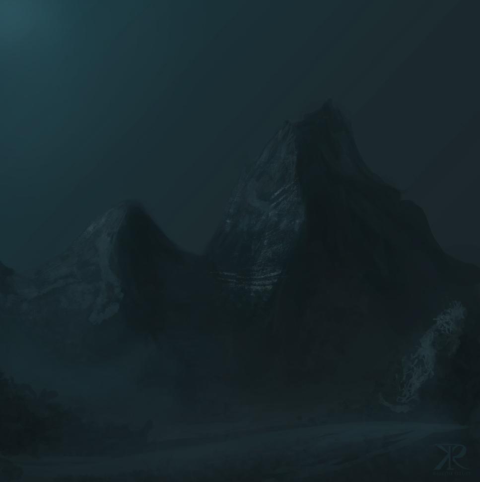 Dark blue hills by Raikoh-illust