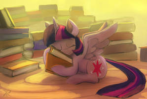 Twilight and Books by RaikohIllust