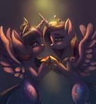 Twilight Sparkle and Cadence