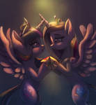 Twilight Sparkle and Cadence