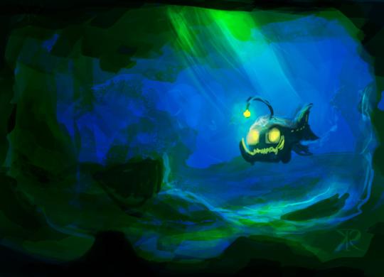 Angler fish by Raikoh-illust