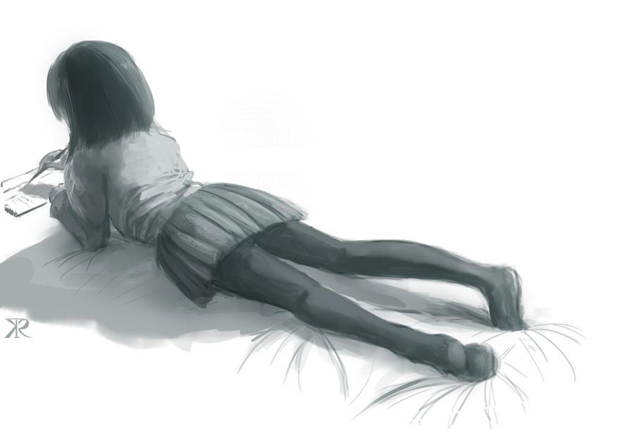 Girl sketch by Raikoh-illust