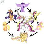 Fusions - Twilight Applejack Fluttershy