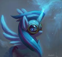 Twilight the Masked Matter Horn by RaikohIllust