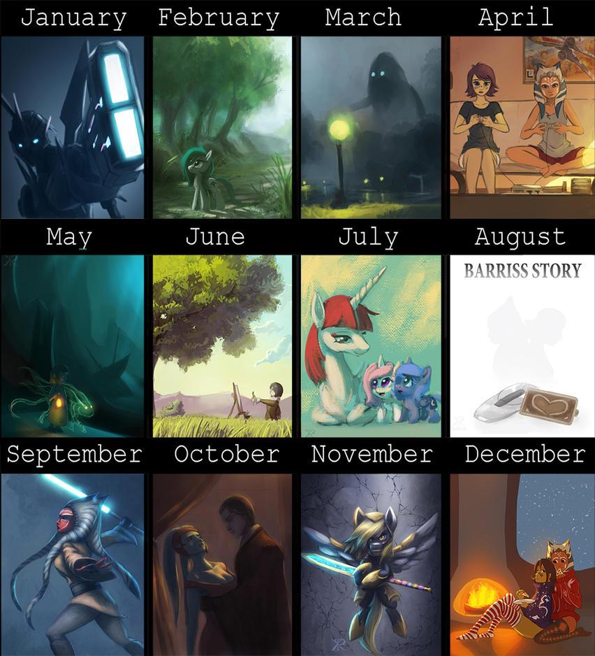 Art Summary-2013 by Raikoh-illust