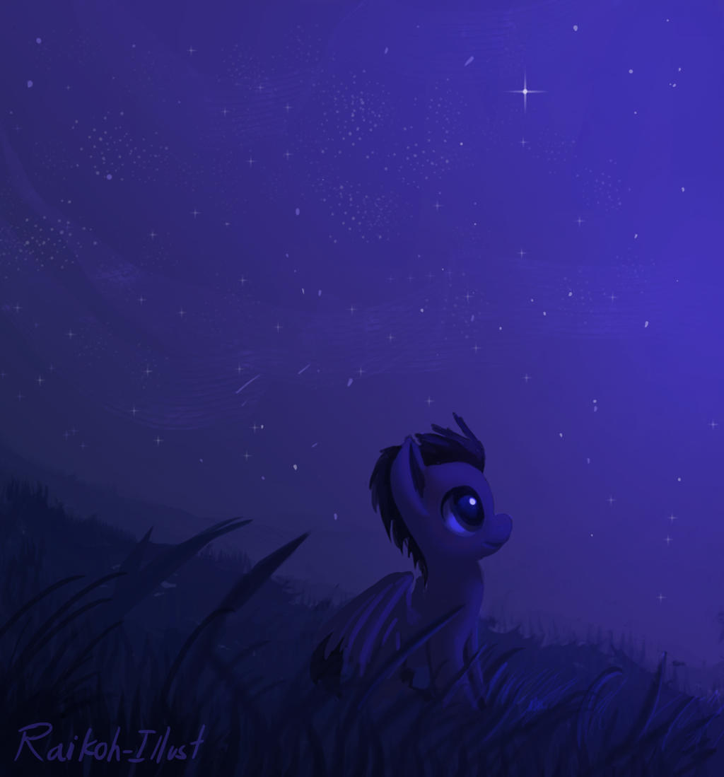 Watching the night sky by Raikoh-illust