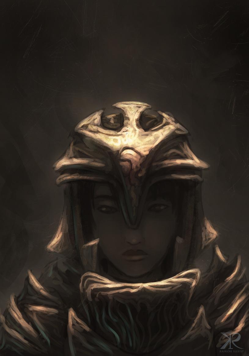golden armor by Raikoh-illust