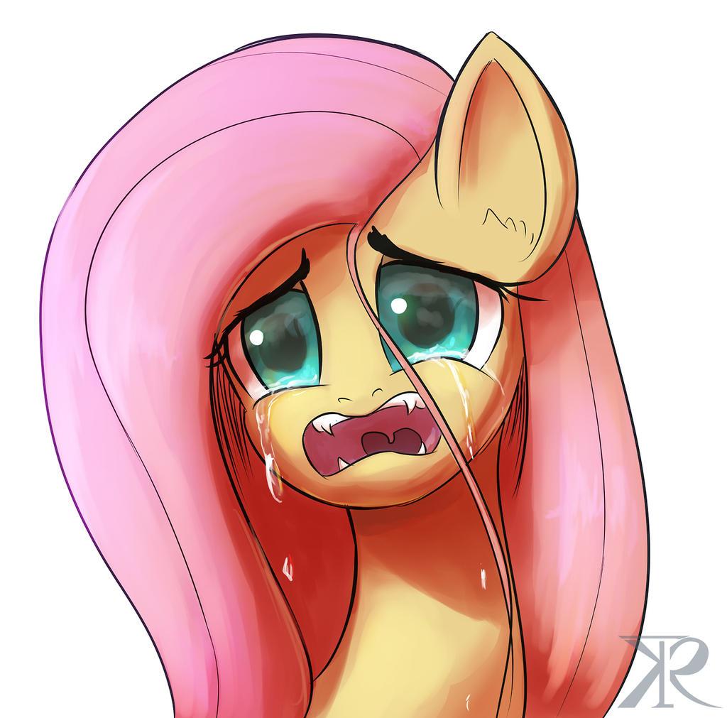 Fluttershy tears by Raikoh-illust