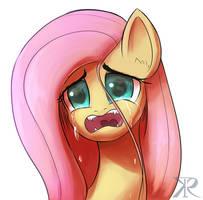 Fluttershy tears by RaikohIllust