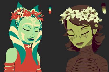 Limited Color meme - Ahsoka and Barriss by RaikohIllust