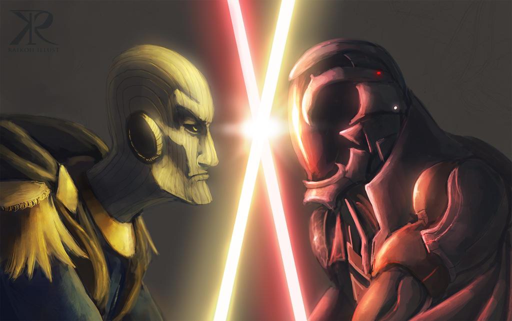 Jedi VS Sith commish by Raikoh-illust