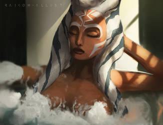 A relaxing Bath by RaikohIllust
